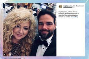Magda Gessler i Conrado Moreno pozują na ważnej imprezie