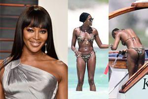 Naomi Campbell przyłapana BEZ PERUKI na wakacjach w Kenii! (FOTO)