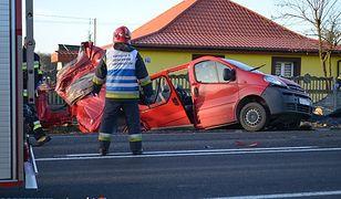 Miejsce wypadku na drodze krajowej nr 544.