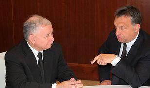 Jarosław Kaczyński rozmawia z premierem Węgier Viktorem Orbanem, 2010 r.