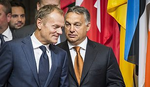 Donald Tusk i Viktor Orban.