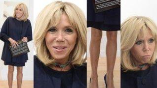 Bardzo szczupłe nogi Brigitte Macron podziwiają wystawę w Paryżu (ZDJĘCIA)