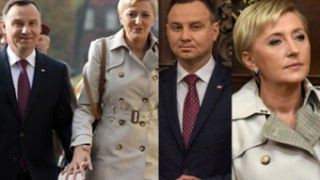 Elegancka Agata i Andrzej Duda idą za rękę na mszę świętą (ZDJĘCIA)