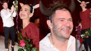 Szczęśliwy Karolak w rogach oklaskuje Violę na premierze spektaklu dla dzieci (ZDJĘCIA)