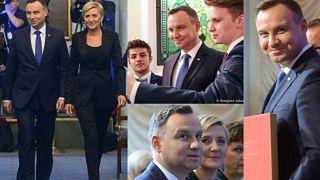 """""""Rok Tadeusza Kościuszki"""" w Pałacu Prezydenckim: selfie z uczniami, przemowy i uśmiechnięty Duda (ZDJĘCIA)"""