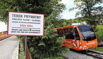 Bezpłatny szlak na Gubałówkę zamknięty. Zablokowały go drzewa