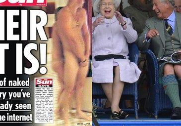 Królowa nie martwi się skandalem :)