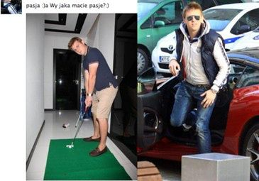 Kukulski gra w golfa w przedpokoju... (FOTO)
