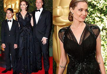 Angelina z Bradem i Maddoxem na czerwonym dywanie!