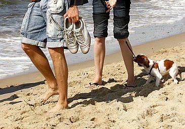 Janiak z żoną na plaży