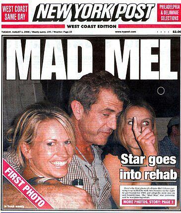 Mel Gibson na odwyku