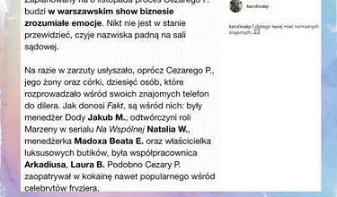 """Korwin-Piotrowska o sprawie dilera celebrytów: """"Lepiej mieć normalnych znajomych"""""""