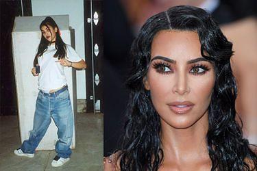 """Kim Kardashian pochwaliła się zdjęciem z młodości: """"Pager, choker, ciemne usta..."""" (FOTO)"""