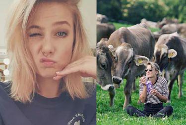 """Marta Wierzbicka jako """"twarz"""" czekolady ociepla los mlecznych krów: """"Cudowne, szczęśliwe krowy"""". Fani: """"Uwierzyłaś w te brednie? Weź się doedukuj"""""""