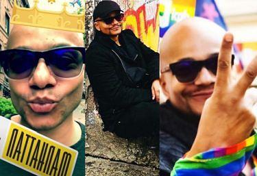 Barwne życie Omara Sangare: przyjaźnie z gwiazdami, podróże i parady równości (ZDJĘCIA)