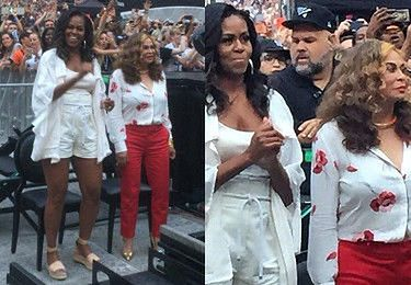 Michelle Obama bawiła się z matką Beyonce na koncercie piosenkarki w Paryżu (FOTO)