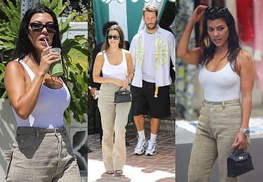 """Zrelaksowana Kourtney Kardashian robi zakupy z """"sobowtórem"""" Scotta Disicka (ZDJĘCIA)"""