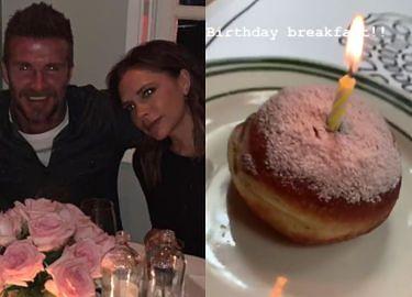 Wystawne urodziny Victorii Beckham: morze kwiatów, pączek i dziewczyna Brooklyna (FOTO)