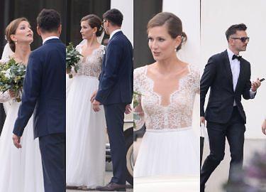 """Bajkowy ślub Anny Bosak z """"You Can Dance"""": koronkowa suknia, patriotyczne konfetti i przytulasy ze znanym bratem (ZDJĘCIA)"""