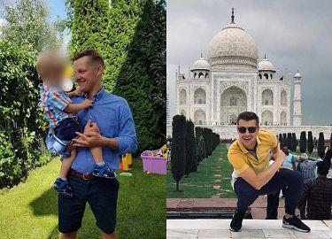 Wakacje braci Mroczków. Marcin bawi się z dziećmi w Warszawie, Rafał w Indiach BAWI SIĘ SAM