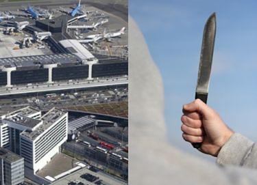 """Nożownik zaatakował na lotnisku w Amsterdamie! """"Groził ludziom nożem"""""""