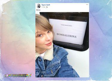 """Taylor Swift pozdrawia z planu """"Kotów"""""""