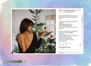 Świąteczna Lewandowska pokazała plecy