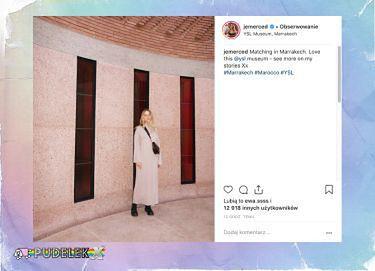 Elegancka Jessica Mercedes pozdrawia z Marrakeszu