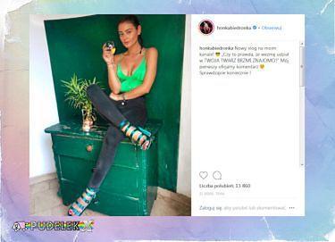 """""""Honka-Biedronka"""" spożywa alkohol na Instagramie"""