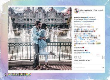 Wendzikowska obłapia się z partnerem w Disneylandzie