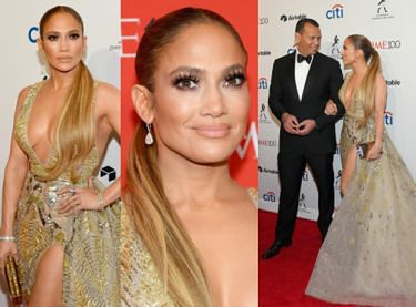 Zjawiskowa Jennifer Lopez gra nogą i biustem na ściance (ZDJĘCIA)