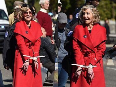 Jane Fonda PONOWNIE ARESZTOWANA za udział w proteście klimatycznym! (FOTO)