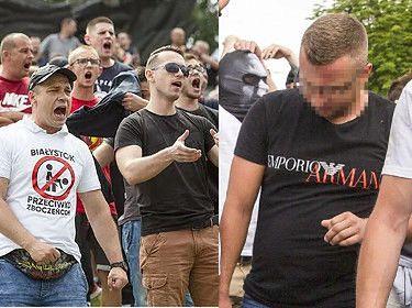 Przeciwnik Marszu Równości protestował w koszulce od Armaniego. Nazwisko słynnego geja na ubraniu mu nie przeszkadza? (FOTO)