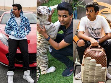 """Tak żyje NAJBOGATSZY NASTOLATEK w Dubaju: luksusowe auta, dzikie zwierzęta i sławni """"znajomi""""... (ZDJĘCIA)"""