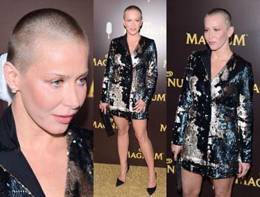 (Prawie) łysa Katarzyna Warnke na pokazie Magnum!