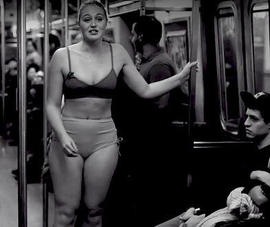 Iskra Lawrence rozebrała się w nowojorskim metrze
