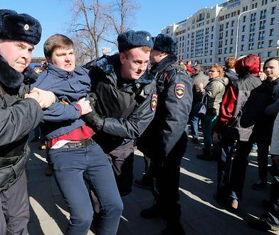 Masowe zatrzymania podczas demonstracji w Moskwie
