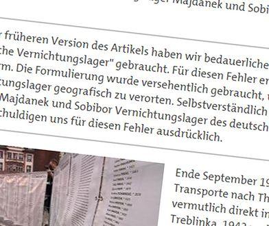 Przeprosiny, zamieszczone na stronie niemieckiej telewizji SWR