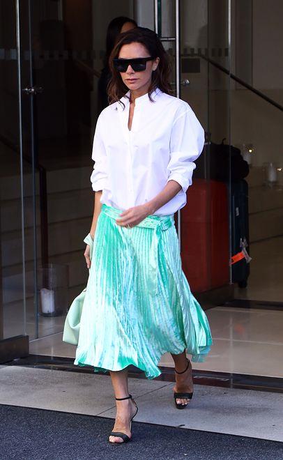 Victoria Beckham w stylizacji z własnej kolekcji