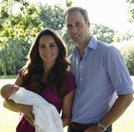 Księżna Kate, Książę William z synkiem Jerzym