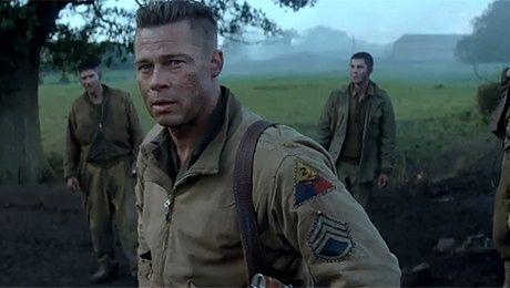 Brad Pitt jako żołnierz na froncie