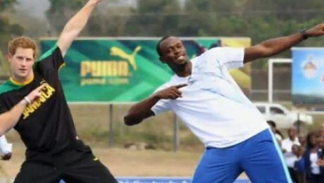 Książę Harry ściga się z Usainem Boltem