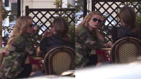 Magda Cielecka z narzeczonym w kawiarni