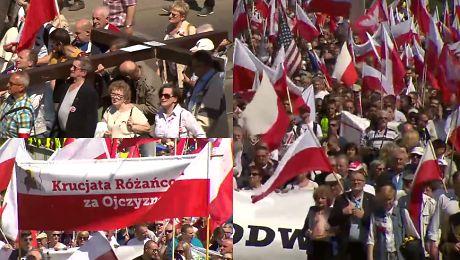 4 5 tysiąca osób na marszu narodowców Przeciwko kolaborantom współpracującym z Brukselą