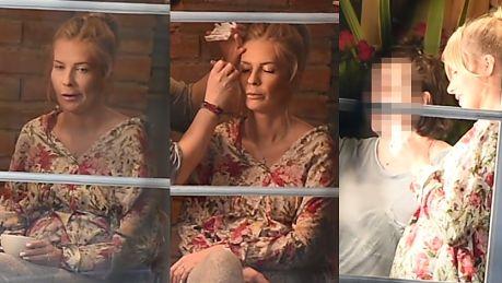 Ciężarna Pazura relaksuje się u makijażystki WIDEO