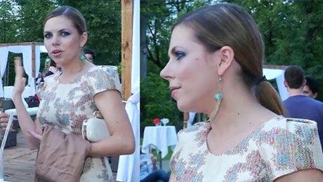 Kwaśniewska w pastelowej sukience