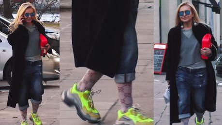 Olejnik biega po mieście w neonowych adidasach i skarpetach Gucci