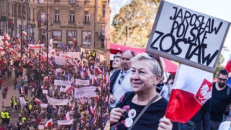 Tak wyglądał wczorajszy marsz KOD u w Warszawie