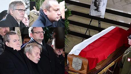 Łukaszewicz Mozil i Gliński na pogrzebie Aliny Janowskiej