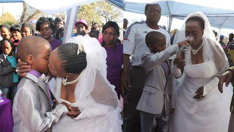 9 latek poślubił 62 latkę Mogłaby być jego babcią WIDEO
